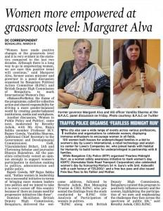 Margaret Alva- Women Empowerment