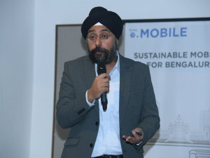 Prabhjeet Singh, Director of Operations, Head of Cities, India & South Asia Uber Indian, addressing the participants of the workshop.